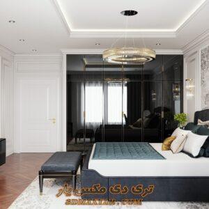 پروژه آماده اتاق خواب کلاسیک برای تری دی مکس شماره 8