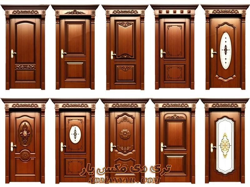 آبجکت درب آپارتمانی برای تری دی مکس --3dmaxyar.com