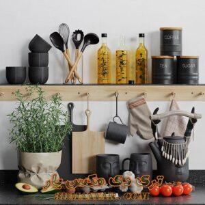 آبجکت ظروف آشپزخانه برای تری دی مکس شماره 20