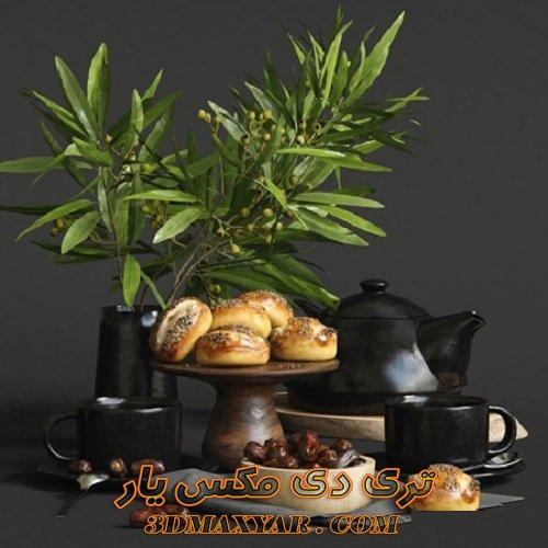 آبجکت مواد غذایی برای تری دی مکس-3dmaxyar.com