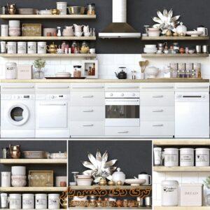 کلکشن آبجکت های لوازم آشپزخانه برای تری دی مکس شماره 24