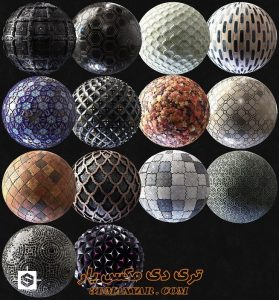 مجموعه تکسچرهای bpr چمن و سنگ فرش برای تری دی مکس شماره 2