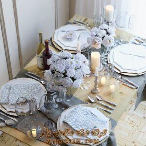 آبجکت ظروف و چیدمان میز برای تری دی مکس شماره 25