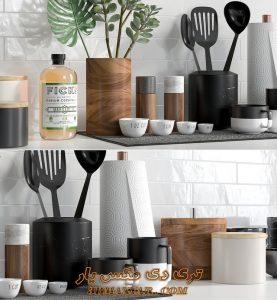 آبجکت ظروف آشپزخانه برای تری دی مکس شماره 22