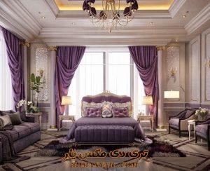 پروژه آماده اتاق خواب کلاسیک برای تری دی مکس شماره 7
