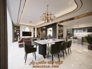 پروژه آماده فضای داخلی آپارتمان برای تری دی مکس شماره 3