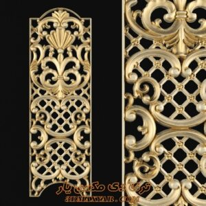 آبجکت گچبری و تزئینات کلاسیک برای تری دی مکس شماره 41