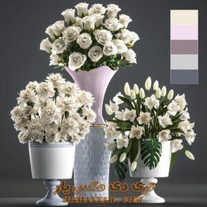 آبجکت دکوری گلدان برای تری دی مکس شماره 14
