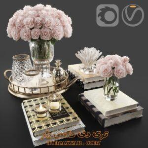 آبجکت دکوری گلدان برای تری دی مکس شماره 64