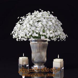 آبجکت گلدان با گیاهان طبیعی برای تری دی مکس شماره 35