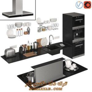 مجموعه آبجکت های ظروف آشپزخانه برای تری دی مکس شماره 23