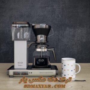 آبجکت آماده قهوه ساز برای تری دی مکس شماره 8