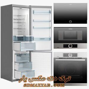 آبجکت لوازم آشپزخانه (فر،مایکروفر،یخچال) برای تری دی مکس شماره 9