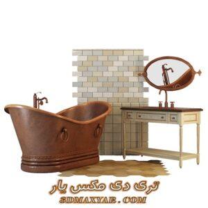 آبجکت وان حمام برای تری دی مکس شماره 31