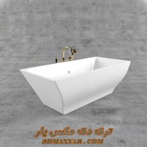 آبجکت وان حمام برای تری دی مکس شماره 8