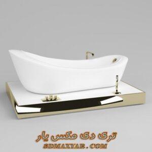 آبجکت وان حمام برای تری دی مکس شماره 27