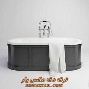 آبجکت وان حمام برای تری دی مکس شماره 26