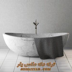 آبجکت وان حمام برای تری دی مکس شماره 25