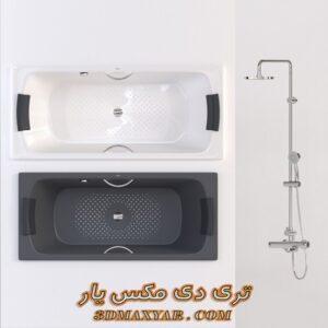 آبجکت وان حمام برای تری دی مکس شماره 24