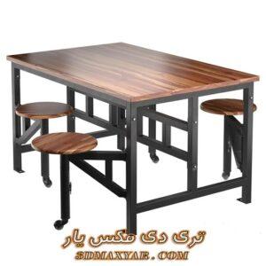 آبجکت آماده میز و صندلی برای تری دی مکس شماره 25