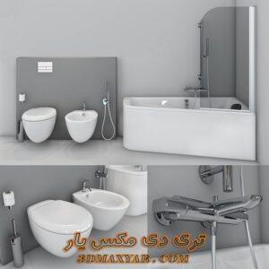 آبجکت وان حمام برای تری دی مکس شماره 39