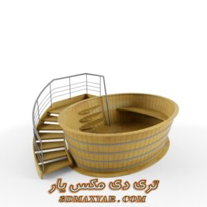 دانلود آبجکت وان حمام برای تری دی مکس شماره 13