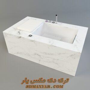 آبجکت وان حمام برای تری دی مکس شماره 34